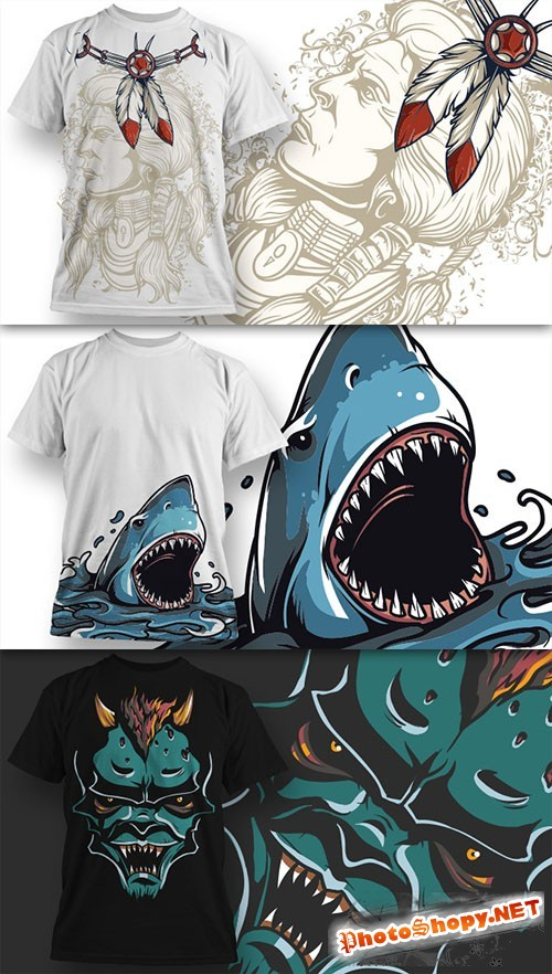 T-Shirt Design Vector Illustrations Pack 9
