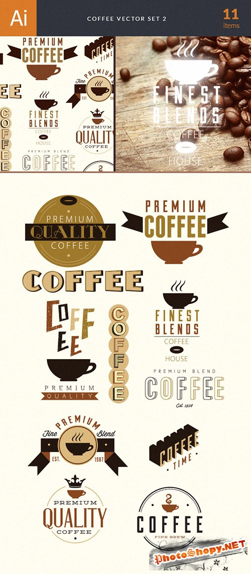 Coffee Vector Illustrations Pack 2