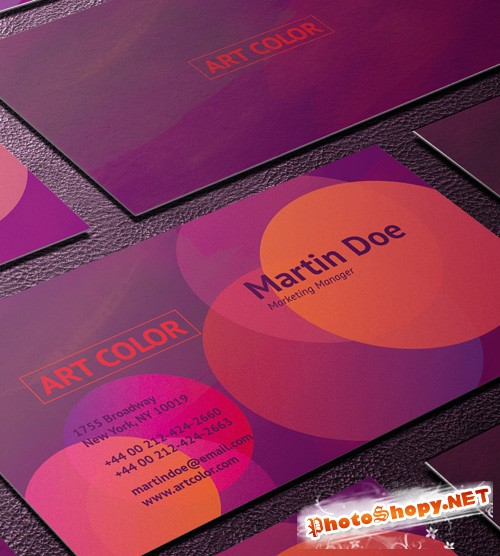 Art Color Business Card Template PSD