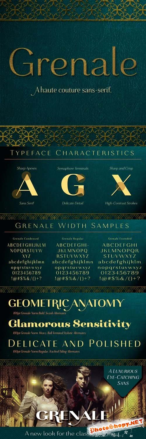 48 Font Family - Grenale