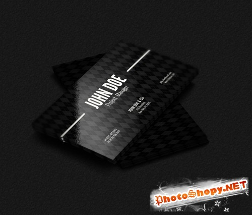 Black Stylish Business Card PSD
