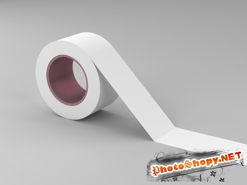 Tape Mock-up Template PSD
