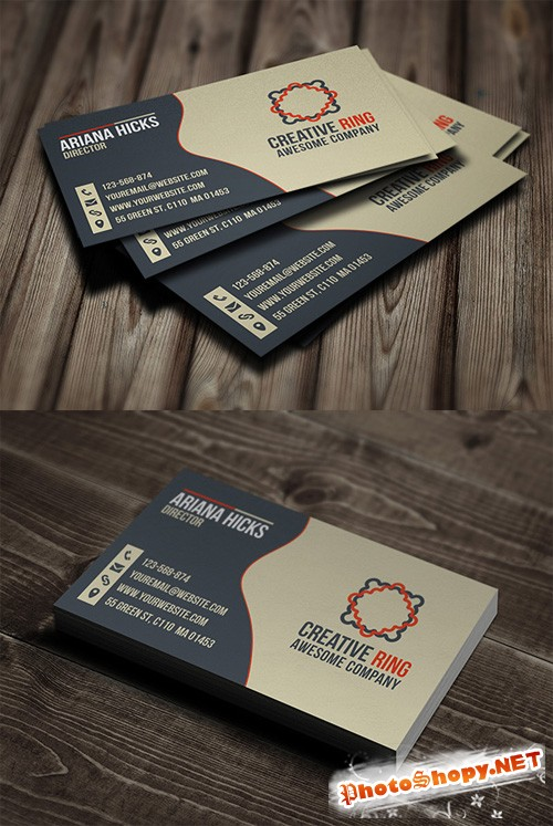 Creative Ring Business Card PSD