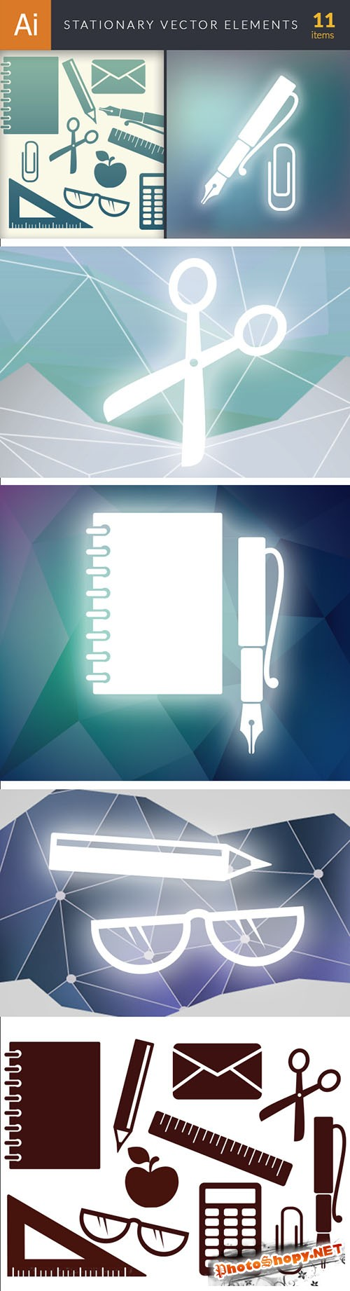 Simple Stationary Vector Elements Set 1