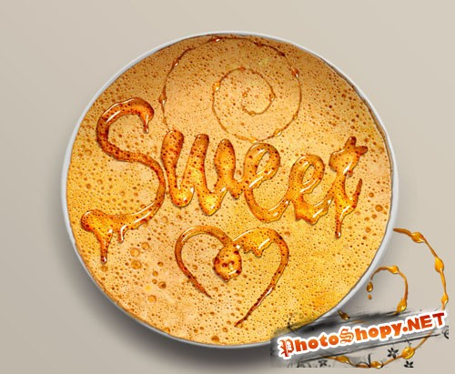 Sweet Honey Leaking Effect PSD Text Style