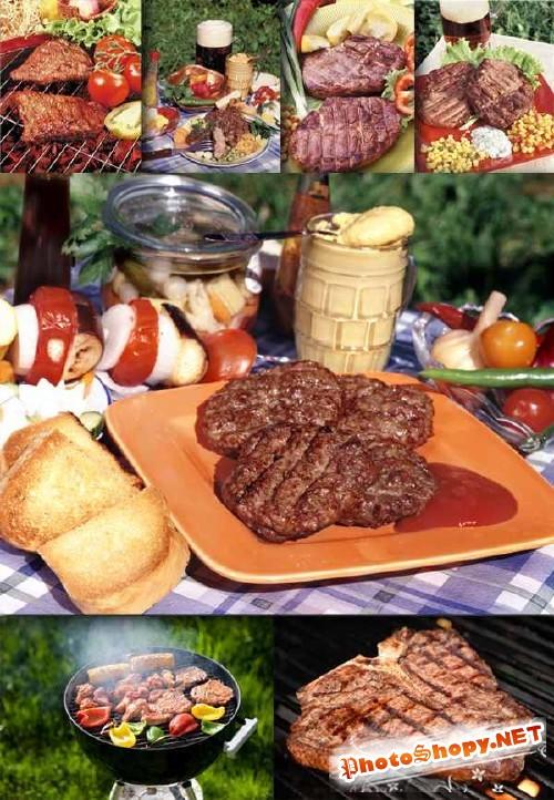 Сочный стейк и жареное мясо (фото)