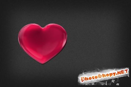 Текст на гламурных сердцах