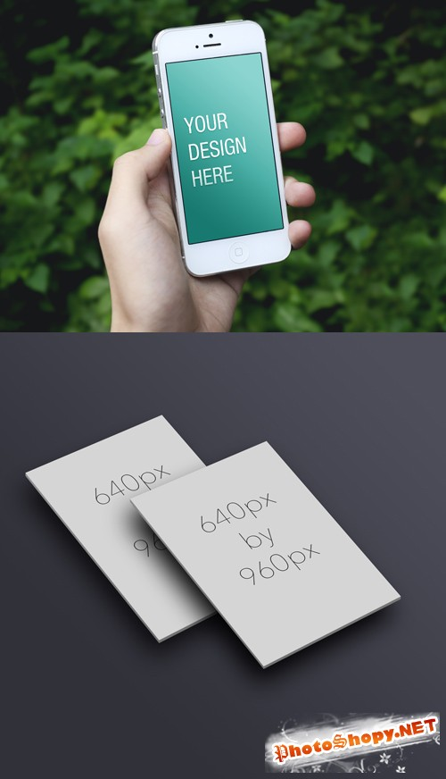 2 iPhone5 Mock-up Templates PSD