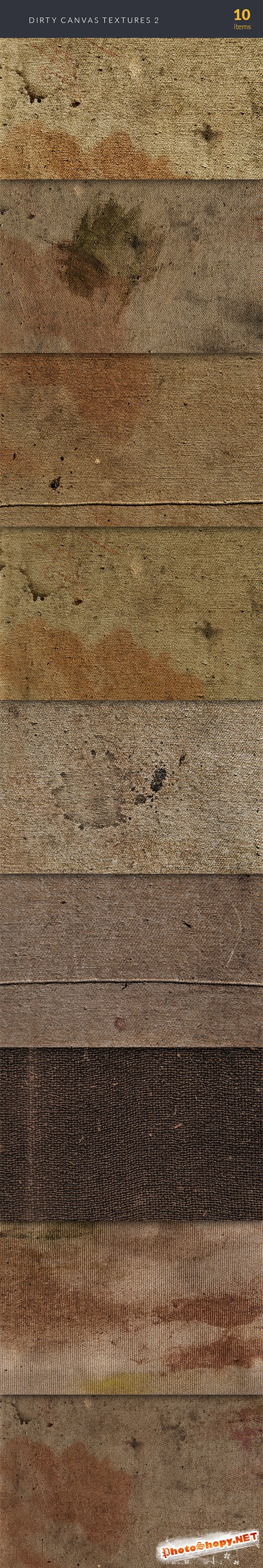 Dirty Canvas Textures Set 2