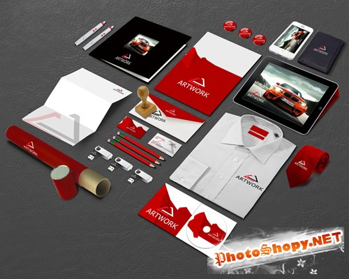 Corporate Identity Mockup Template 6 PSD