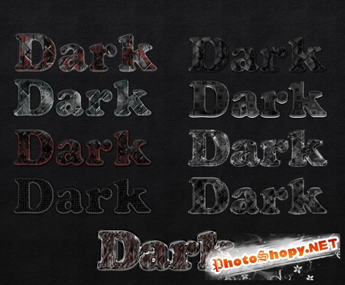 Dark Simple PS Styles