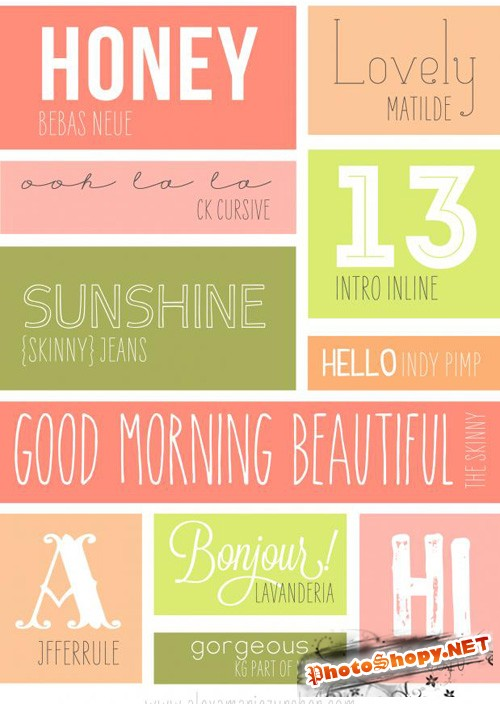 Fonts Collection - Postcard TTF