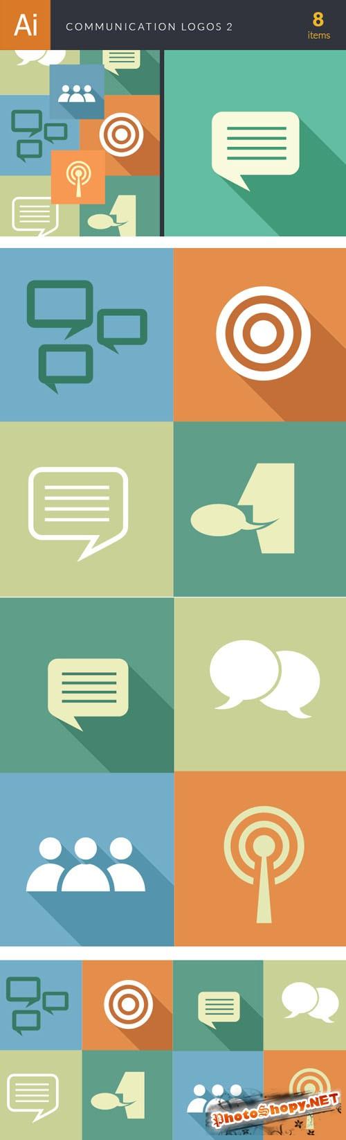 Communication Logos Vector Illustrations Pack 2