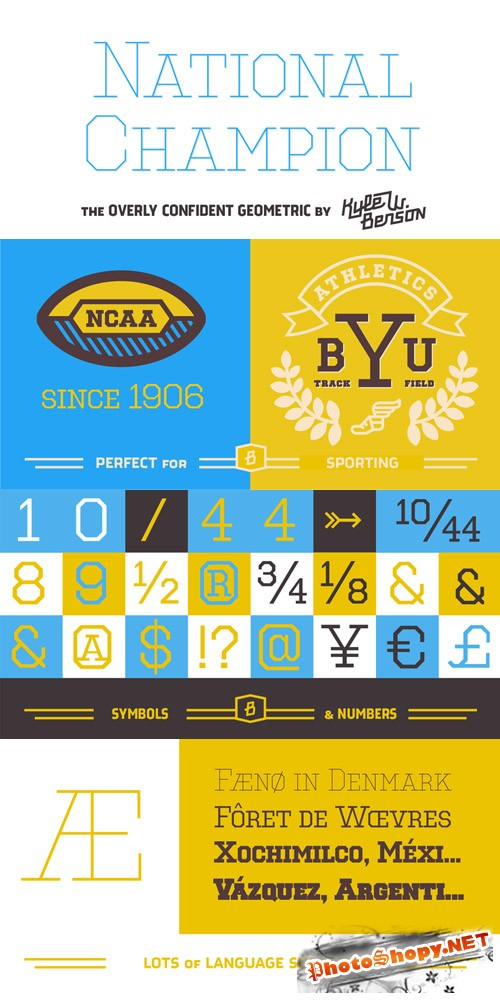 National Champion - 4 Fonts for $10