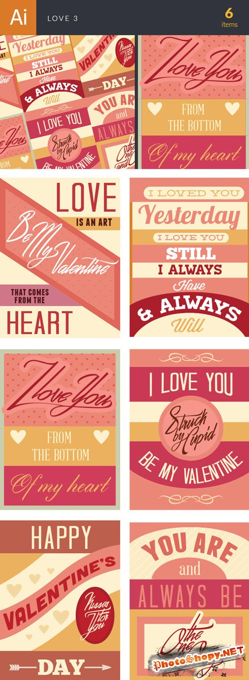 Love Vector Illustrations Pack 3