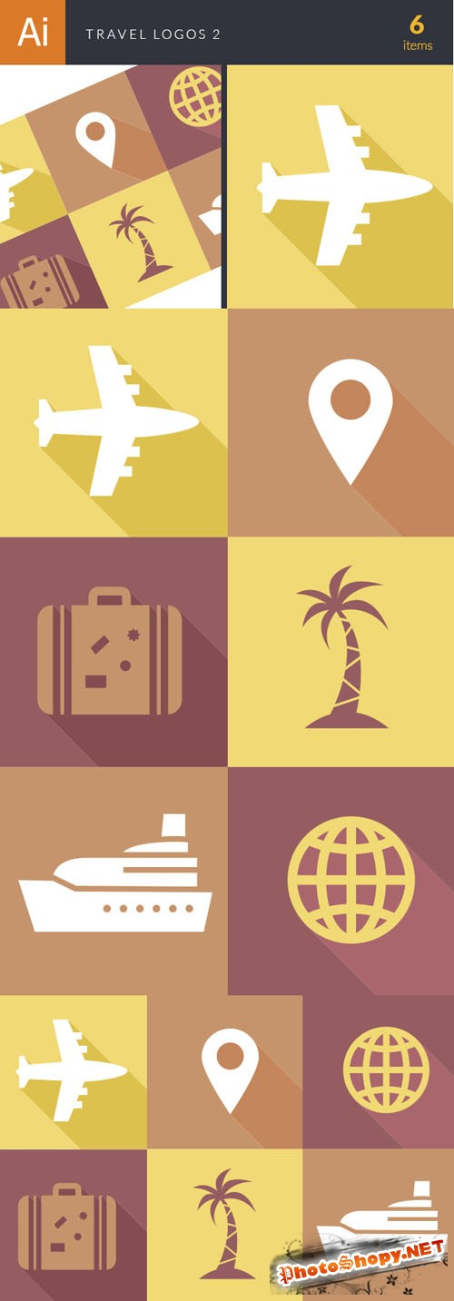 Travel Logos Vector Illustrations Pack 2