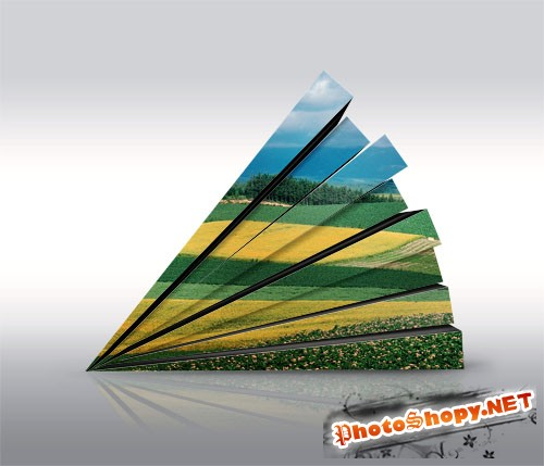 3D Wall Photography Mock Up PSD Template #2