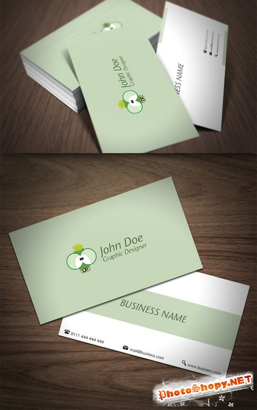 Premium Business Card Mock-Up PSD Template #1
