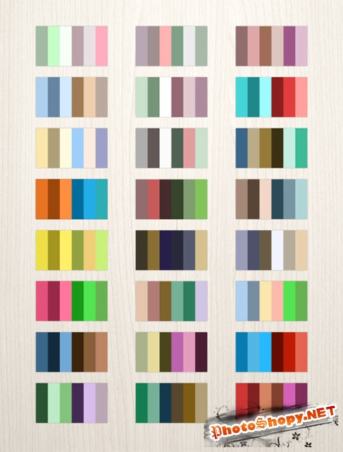 24 Complementary Color Photoshop Palettes