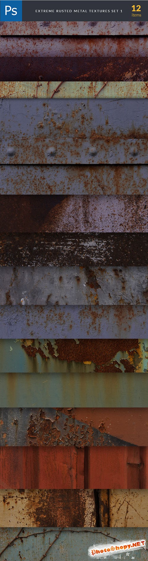 Extreme Rusted Metal Textures Set 1