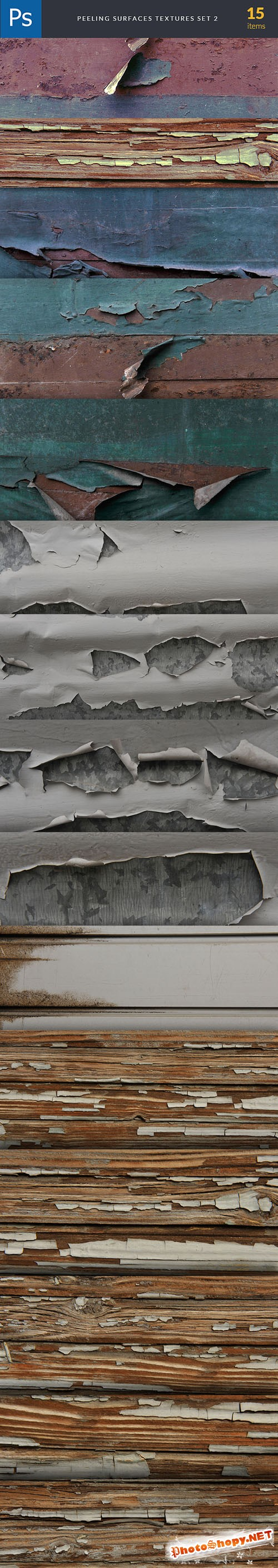 Peeling Surface Background Textures Set 2