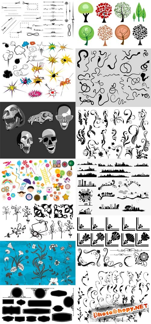 Photoshop Brushes and Vector Collection