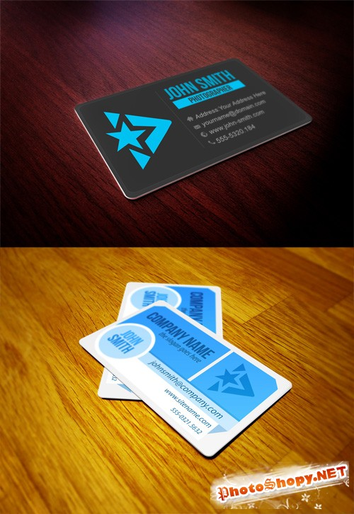 2 Business Card Mock up Collection PSD
