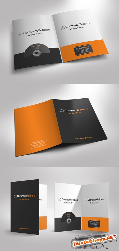 Presentation Folder Mock up Templates