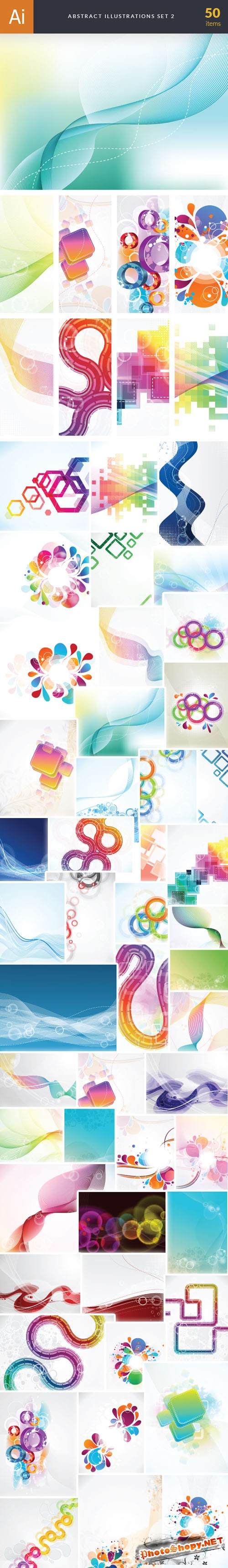50 Abstract Vector Illustrations Bundle