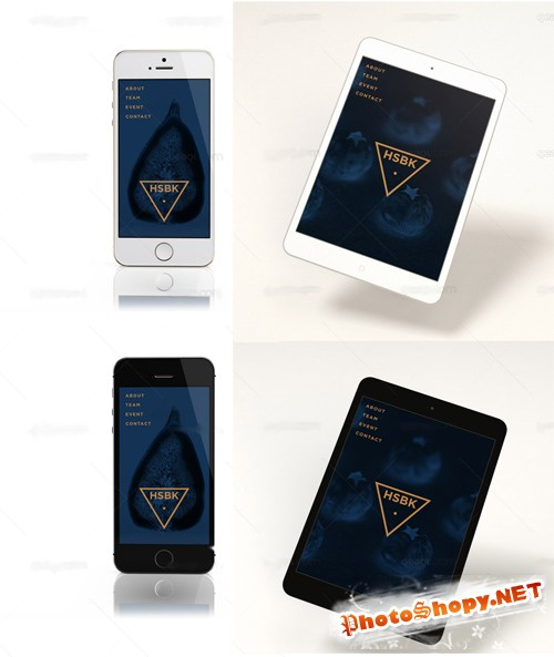 IPad Mini Retina and iphone Mock up PSD