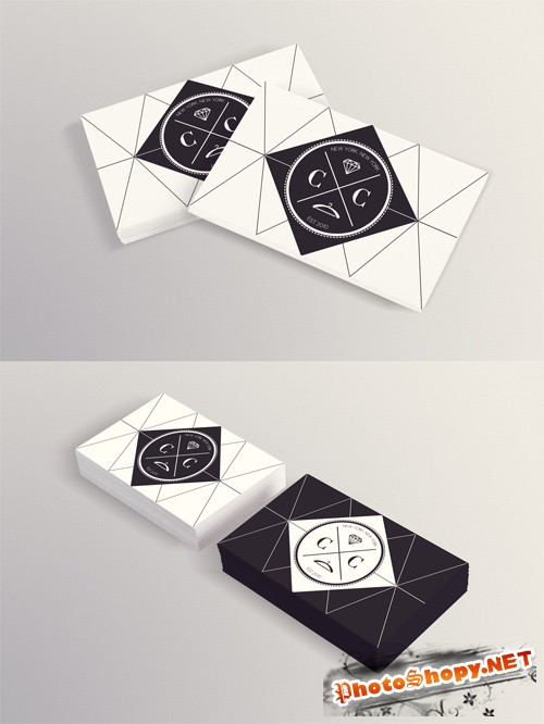 Photorealistic Business Card Mock up PSD