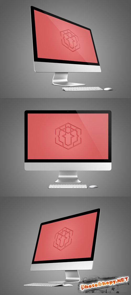 3 Computer Display Mock-Up PSD Templates