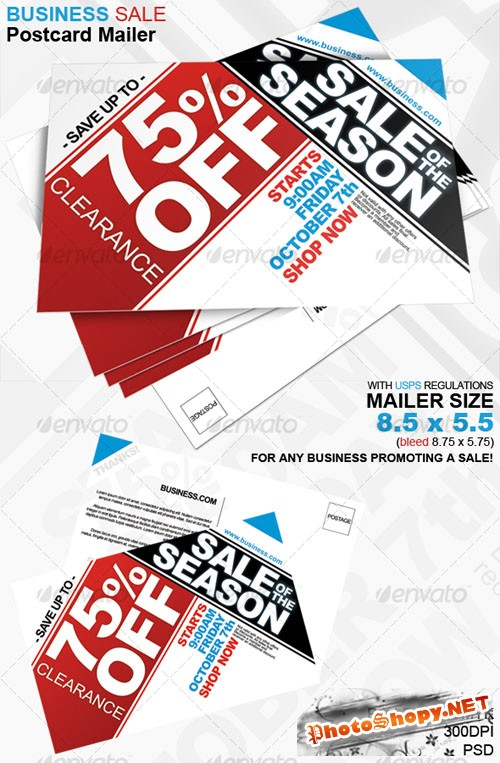 GraphicRiver - Business Sale Postcard Mailer 8.5 x 5.5 - 81200