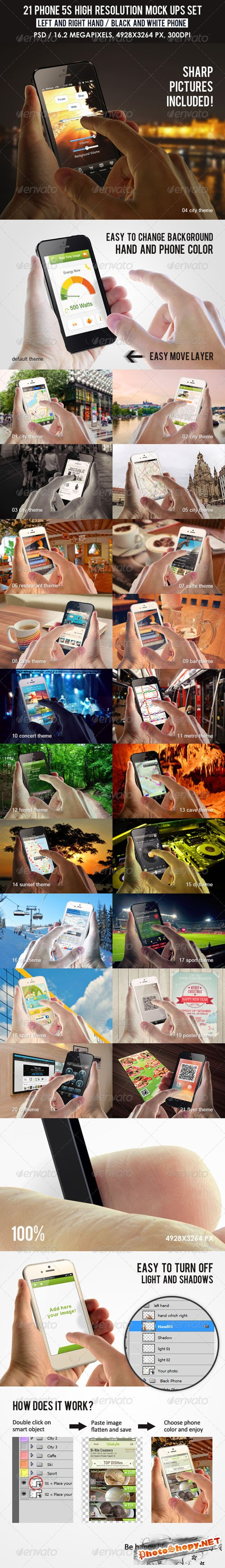 Graphicriver - 21 Phone 5s high resolution Mock Ups Set 7469693