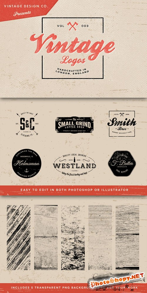 Vintage Logos Vector Elements Volume 3