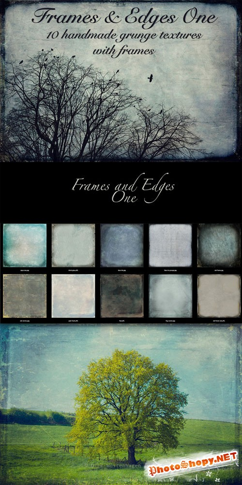 CreativeMarket - Frames and Edges one - Textures