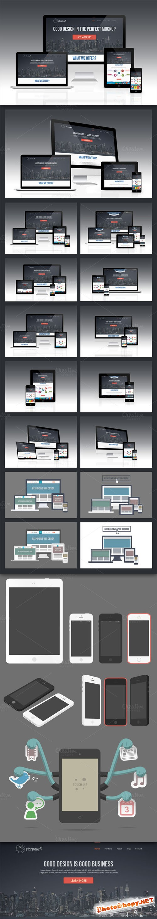 CreativeMarket - Responsive Screen Mockup