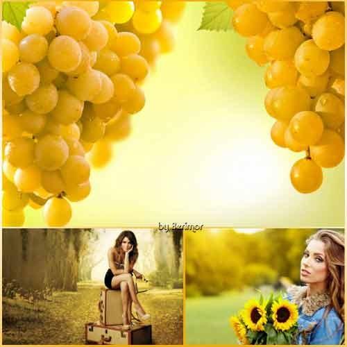 Желтые фото обои всяческие и красивые. Часть 2
