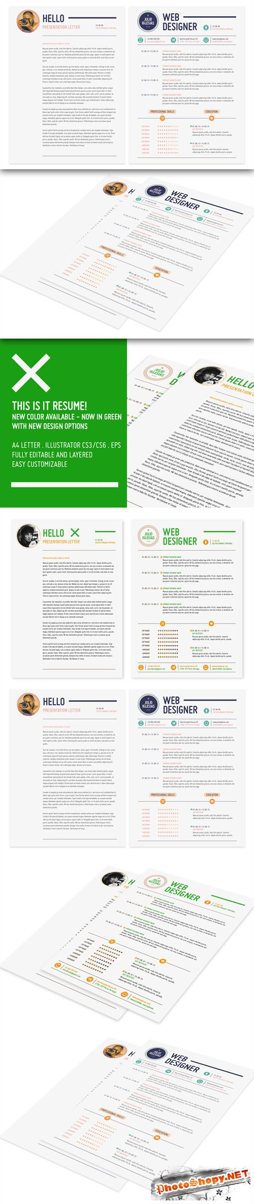 CreativeMarket - This is it Resume