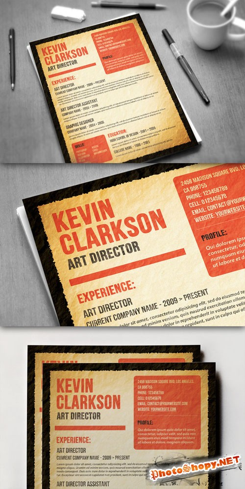 CreativeMarket - Most Wanted Resume