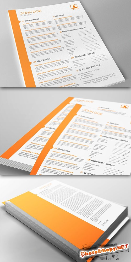 CreativeMarket - Resume & Cover Letter Template