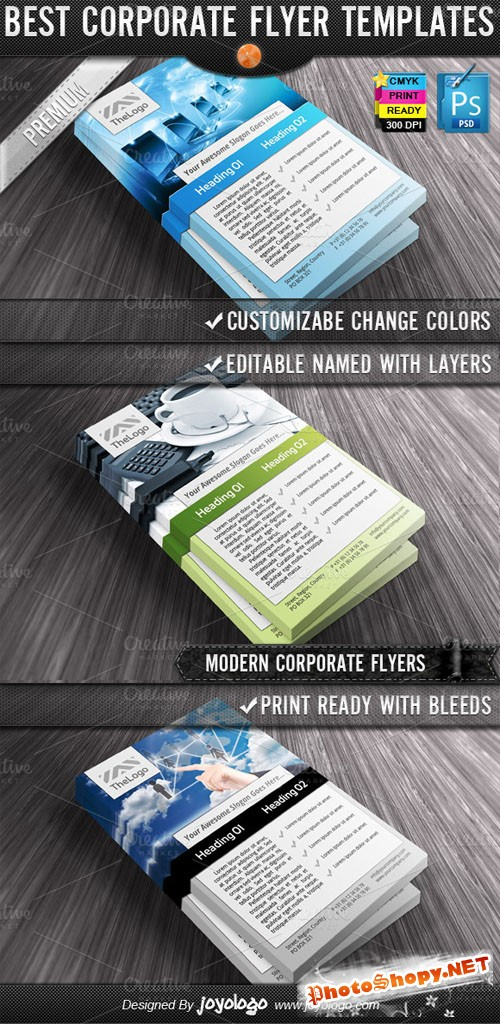 Creativemarket - Business Computers Flyers Templates