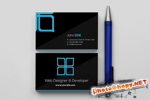 CreativeMarket - Window Black Business Card