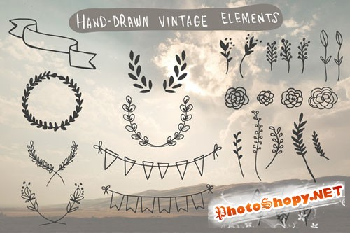 CreativeMarket - Hand-Drawn Vintage Elements