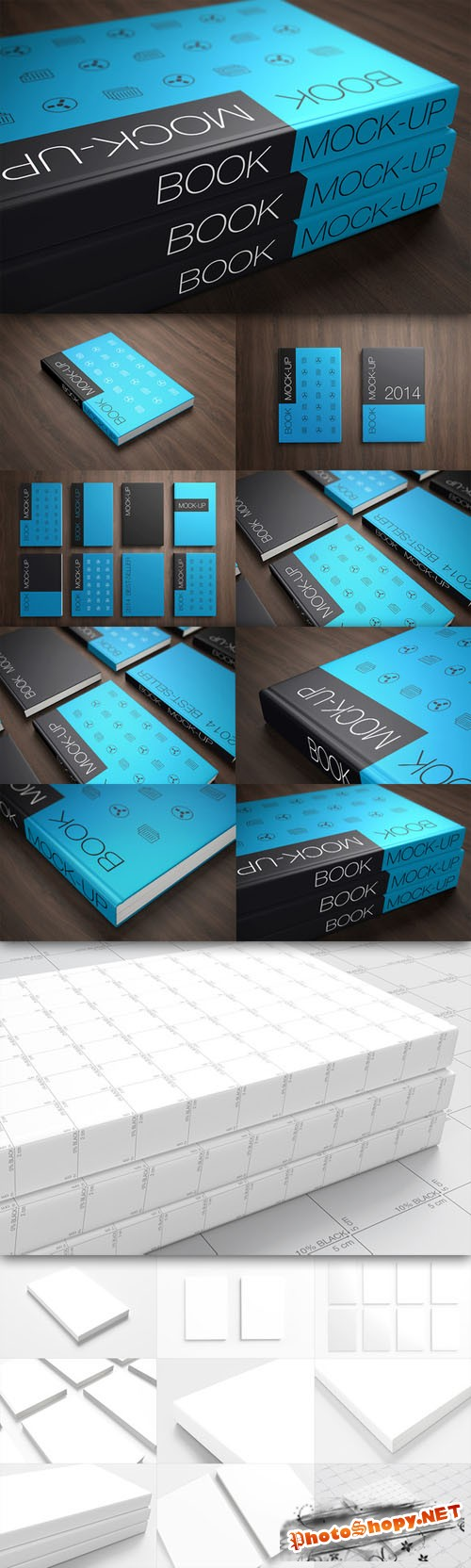 CreativeMarket - Book Cover Mock-up's