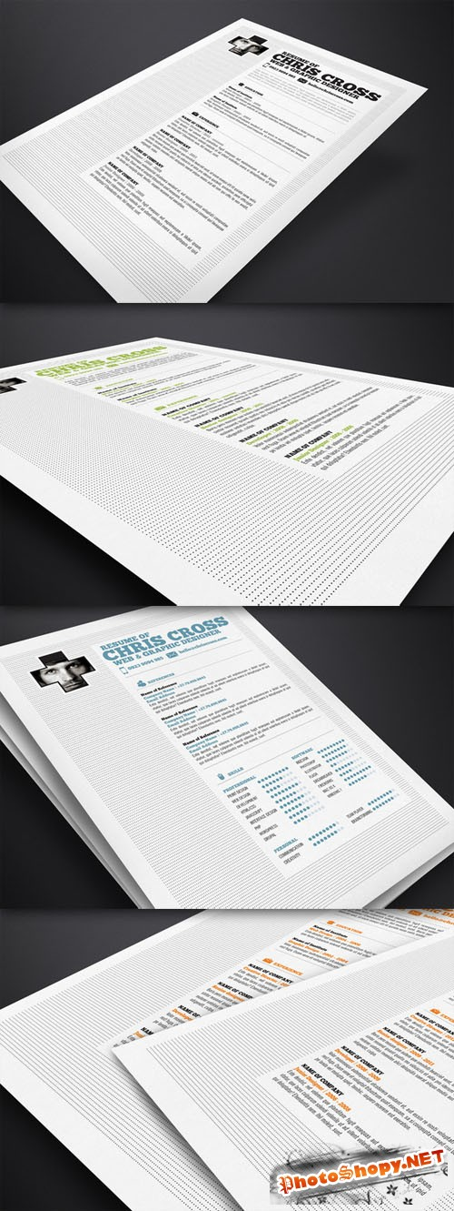 CreativeMarket - Chris Cross Resume Template