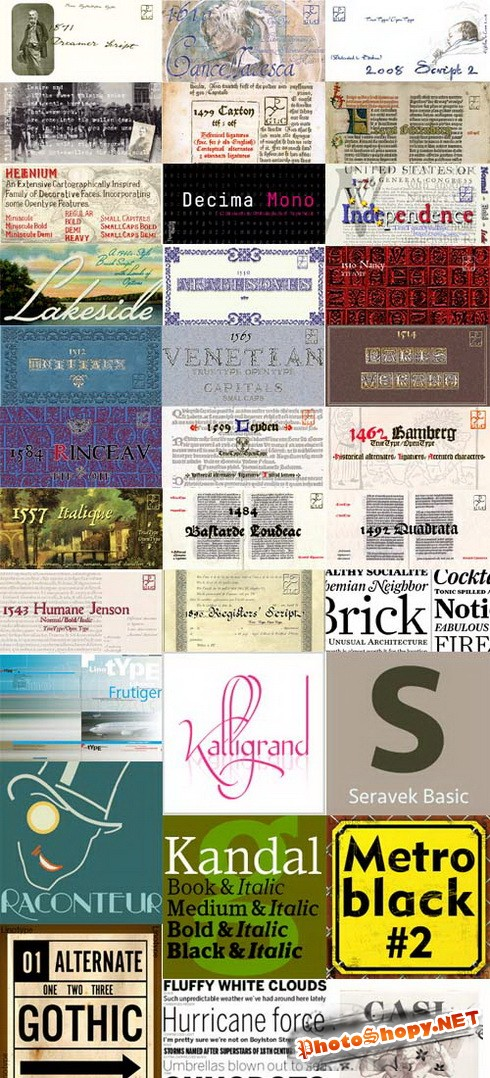 242 Commercial Fonts Collection