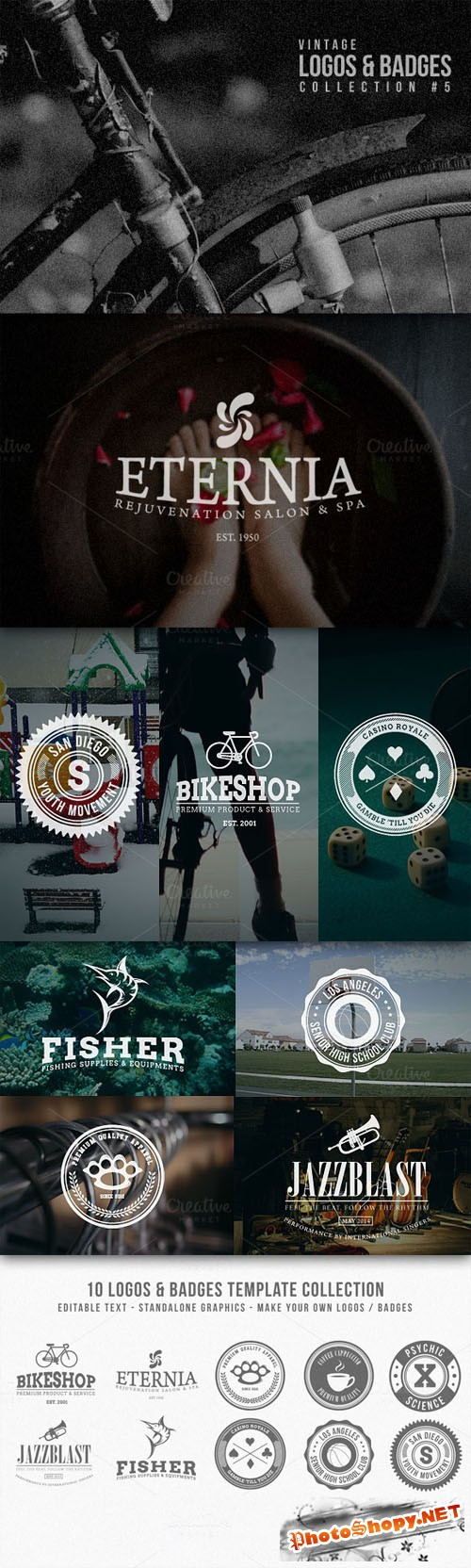 CreativeMarket - Vintage Logos & Badges Collection 5