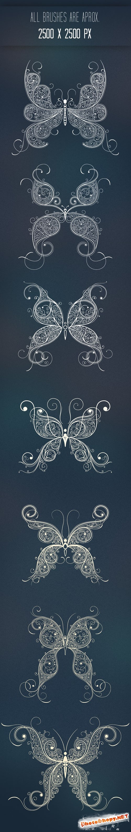 Butterflies Abstract Photoshop ABR Brushes