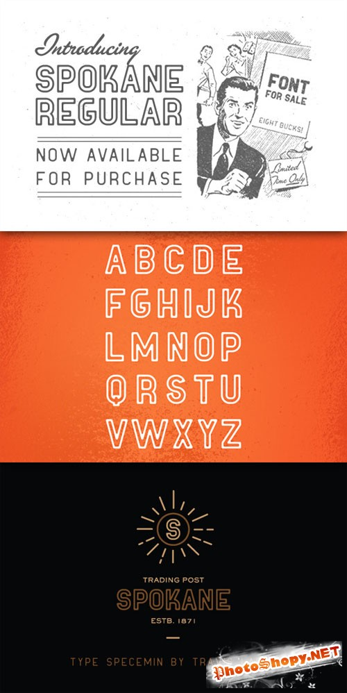 CreativeMarket - Spokane Regular Font